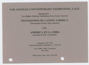 Testimonios de Latinoamericas (Documents from Latin America) / America en La Mira (America in the Viewfinder)