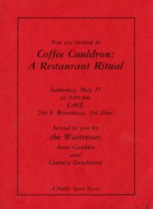 The Waitresses / Coffee Cauldron: A Restaurant Ritual