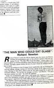 Richard Newton / The Man Who Could Eat Glass