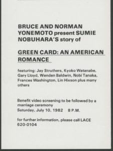 Bruce and Norman Yonemoto Green Card: An American Romance
