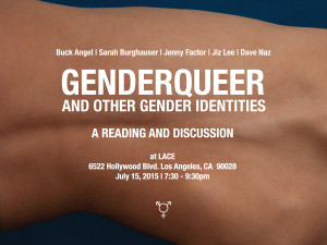 Genderqueer and Other Gender Identities: A Reading and Discussion